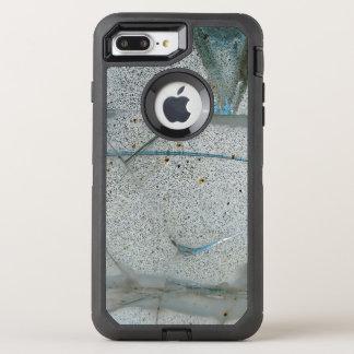 Defektes gebrochenes und schmutziges Gras OtterBox Defender iPhone 8 Plus/7 Plus Hülle