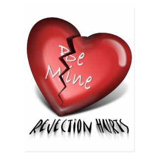 defektes Herz, Ablehnungs-Schmerzen Postkarte