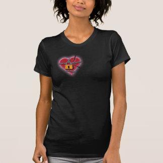 Defektes Herz im Ketten-T - Shirt