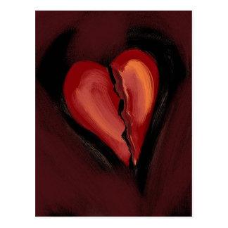 Defektes Herz Postkarte