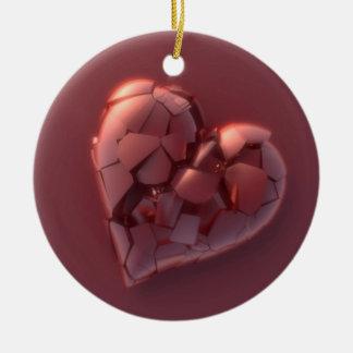 Defektes Herz Rundes Keramik Ornament