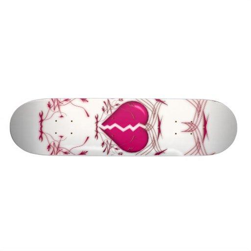 Defektes Herz/Stammes- Grafik-(rosa) Skateboard Skateboard Bretter
