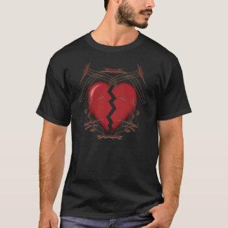 Defektes Herz/Stammes- Grafik - schwarzer T - T-Shirt