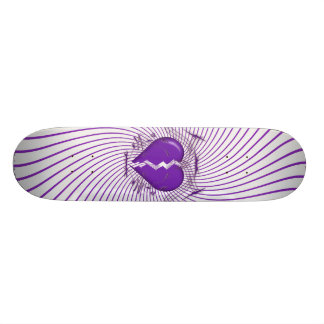 Defektes Herz u Stammes- Grafik Lila Skateboard Individuelle Skateboarddecks