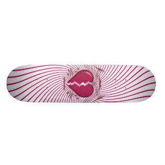 Defektes Herz u Stammes- Grafik Rosa Skateboard Individuelles Deck