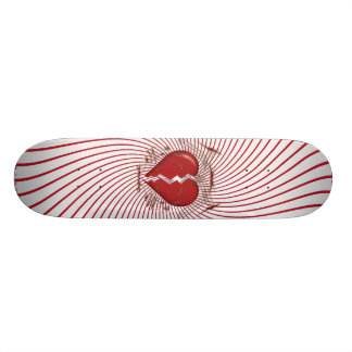 Defektes Herz u Stammes- Grafik Rot Skateboard Individuelles Skateboard