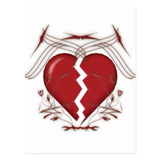 Defektes Herz u. Stammes- Grafiken: Postkarte
