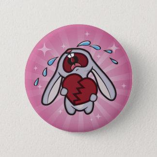 Defektes herziges Häschen mit rosa Runder Button 5,7 Cm