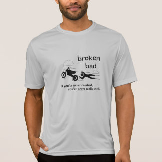 Defektes schlechtes Schmutz-Fahrrad T-Shirt