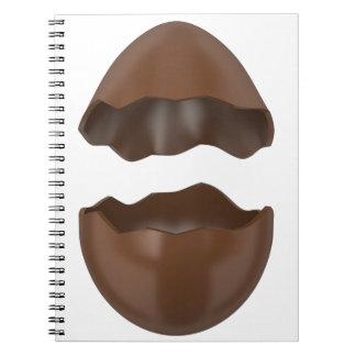 Defektes Schokoladenei Notizblock