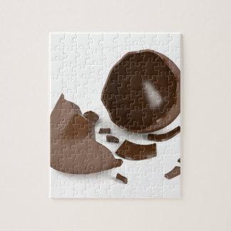 Defektes Schokoladenei Puzzle