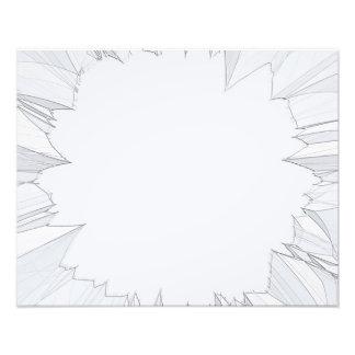 Defektes zerbrochenes Glas Fotodruck