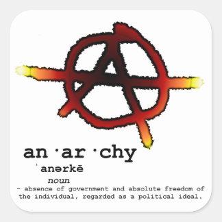 Definition der Anarchie Quadratischer Aufkleber