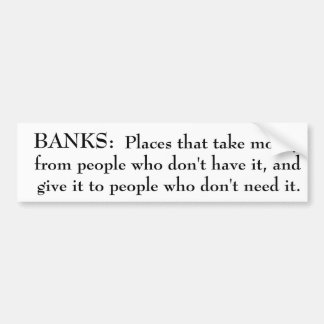 Definition des Bank-Autoaufklebers Autoaufkleber