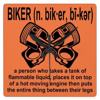 Definition des Radfahrer-(N): Eine Person, dessen Quadratische Wanduhr