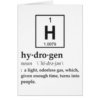 Definition des Wasserstoffs Karte