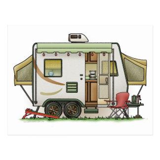 Dehnbarer Hybred Anhänger-Camper Postkarte