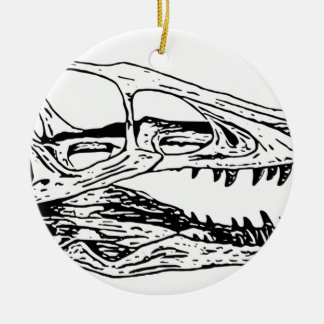 Deinonychus Keramik Ornament