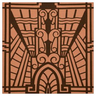Deko-Architekturmuster, Kupfer und Brown Stoff