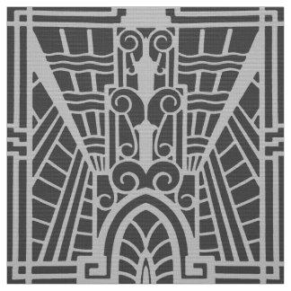 Deko-Architekturmuster, silbernes Grau/Grau Stoff