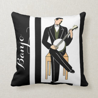 Deko-Banjo-Spieler Kissen