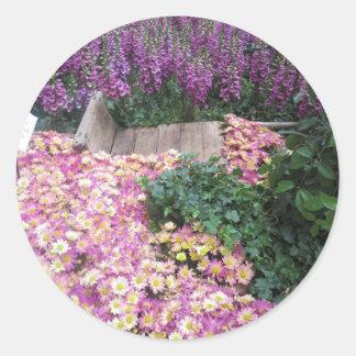 Deko-Blumen: Kinder, Feier, Geburtstag, Picknick Runder Aufkleber