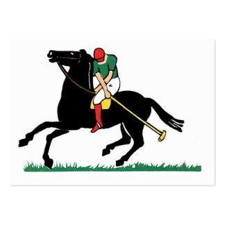 Deko-Pferdepolo-Geschäfts-Karten Jumbo-Visitenkarten