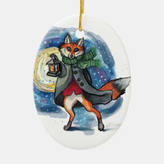 Dekoration Feiertags-LaterneFox Chirstmas! Keramik Ornament