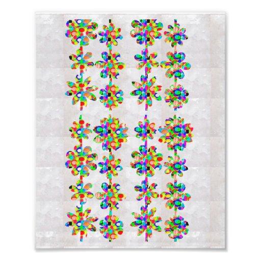 Dekorationen auf KODAK-Blume, die durch NAVIN Fotodruck