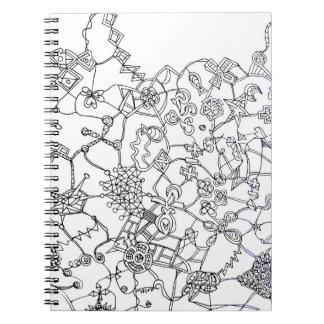 Dekorations-Notizbuch Spiral Notizblock