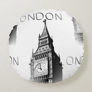 Dekorationskissen rundes London Big Ben Rundes Kissen