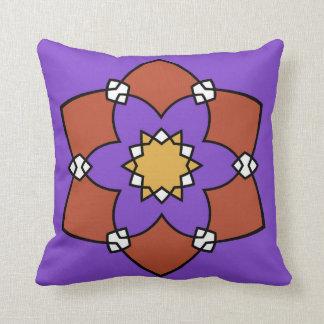 """Dekorationskissen, """"violette Rosette"""" violetter Kissen"""