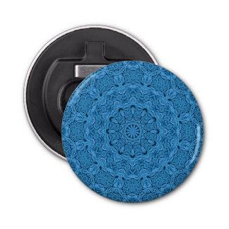 Dekorative blaue magnetische Flaschen-Öffner Runder Flaschenöffner
