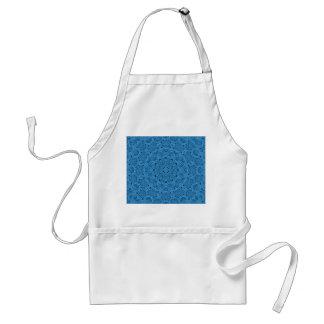 Dekorative blaue Vintage Kaleidoskop-        Schürze