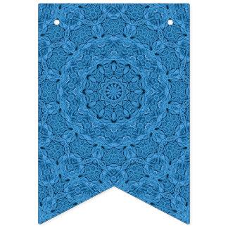 Dekorative blaue Vintage Wimpelketten