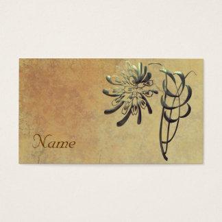 Dekorative Chrysantheme Visitenkarte