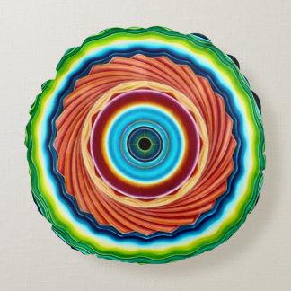 Dekorative drittes Augen-Turbulenz-Mandala-rundes Rundes Kissen