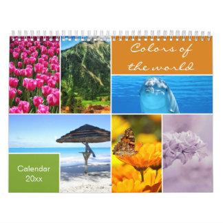 Dekorative Farben des Weltkalenders Wandkalender