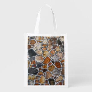 Dekorative Felsen-Wand Wiederverwendbare Einkaufstasche