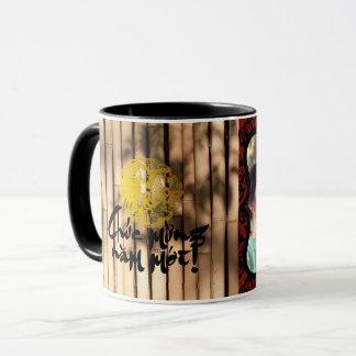 Dekorative Fotorahmen Papercut Hahn-Bambus-Tasse Tasse