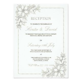 Dekorative Hochzeits-Empfangs-Einladung Karte