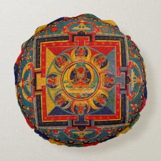Dekorative Indie Kunst-Mandala Rundes Kissen