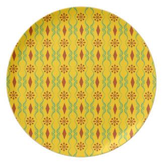 Dekorative Indien-Streifen Teller