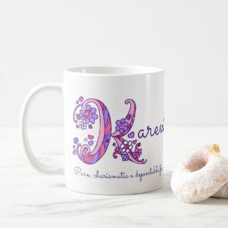 Dekorative K Monogramm-Tasse Karennamensbedeutung Kaffeetasse