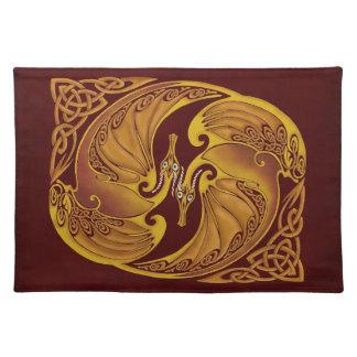 Dekorative keltische Drachen Tisch Set