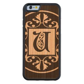Dekorative Monogramm-Initiale U Bumper iPhone 6 Hülle Kirsche