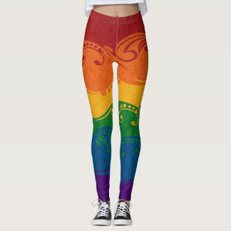 Dekorative Regenbogen-Flagge Leggings