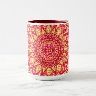 Dekorative runde Stammes- ethnische Verzierung Tasse