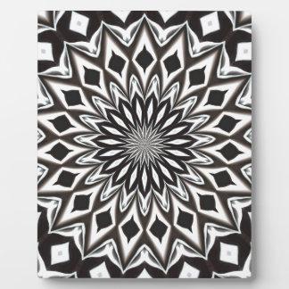 Dekorative Schwarzweiss-Mandala Fotoplatte