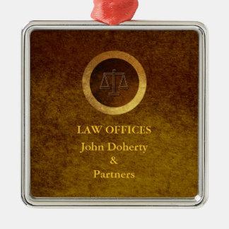 Dekorative Skalen des Rechtsanwaltsbüros der Silbernes Ornament